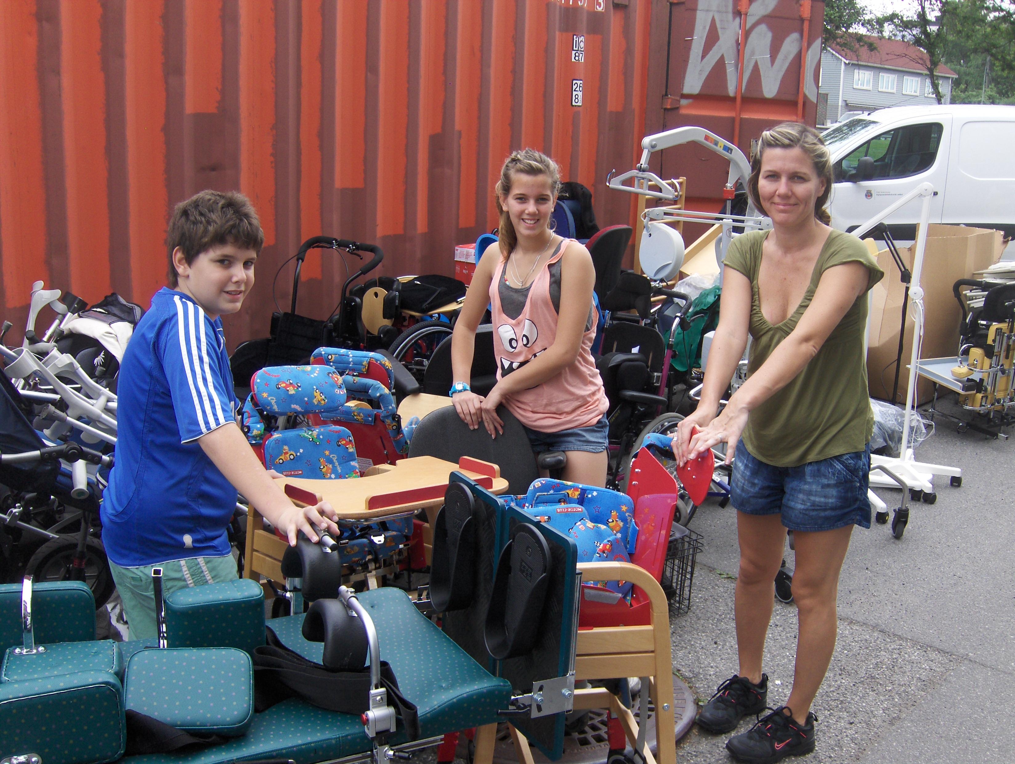 Marco, Luise og Cecilia