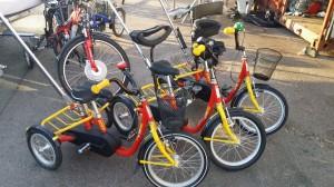 røde sykler