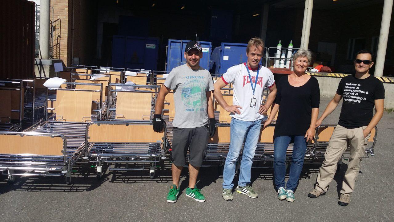 Leo, Bjørn, Marianne og Enrique på dugnaden 29. august