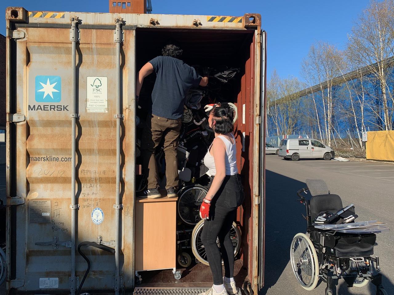 David og Kjerstin i container nr 138