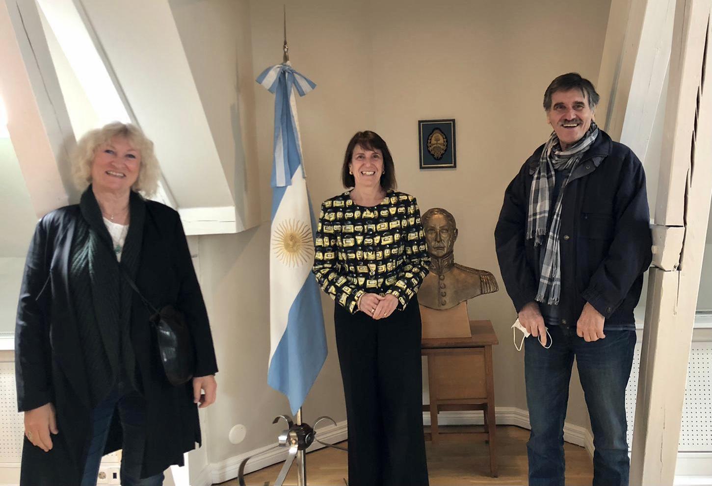 På besøk hos Argentinas ambassadør i Oslo