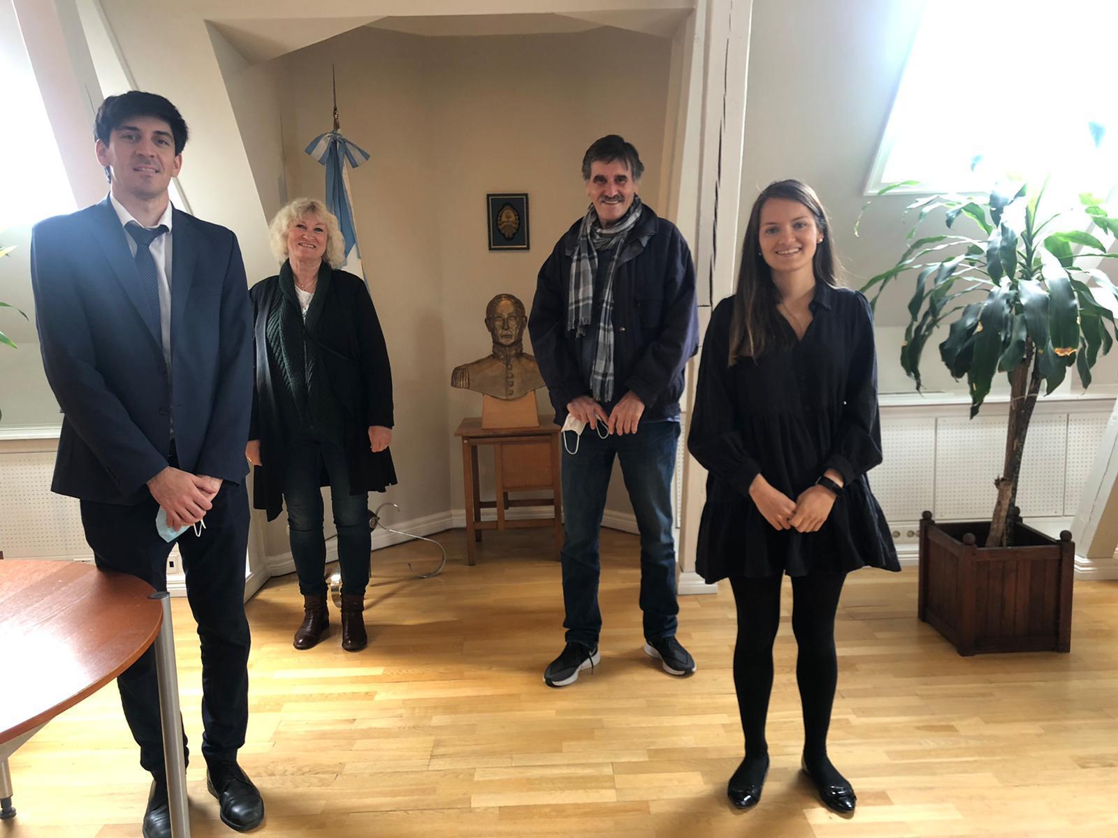På besøk i Argentinas ambassade i Oslo